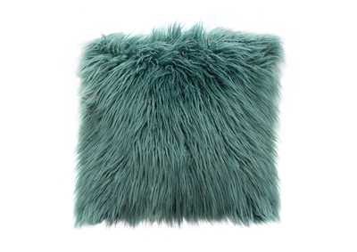 "Image for Teal 18"" Square Accent Pillow by Diamond Sofa in Teal Dual-Sided Faux Fur"