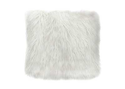 "Image for White 18"" Square Accent Pillow by Diamond Sofa in White Dual-Sided Faux Fur"