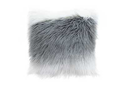 "Image for White/Grey 18"" Square Accent Pillow by Diamond Sofa in White/Grey Ombre Dual-Sided Faux Fur"