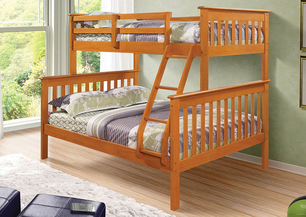 Twin/Full Mission Bunk Bed w/Ladder,Donco Kids