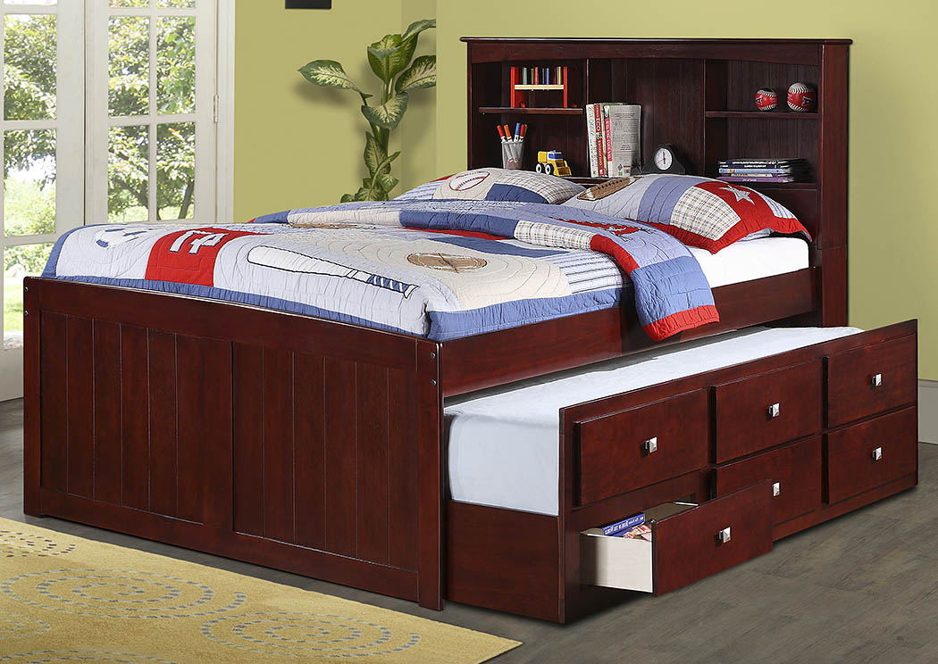 Full Bookcase Captains Bed w/Storage,Donco Kids