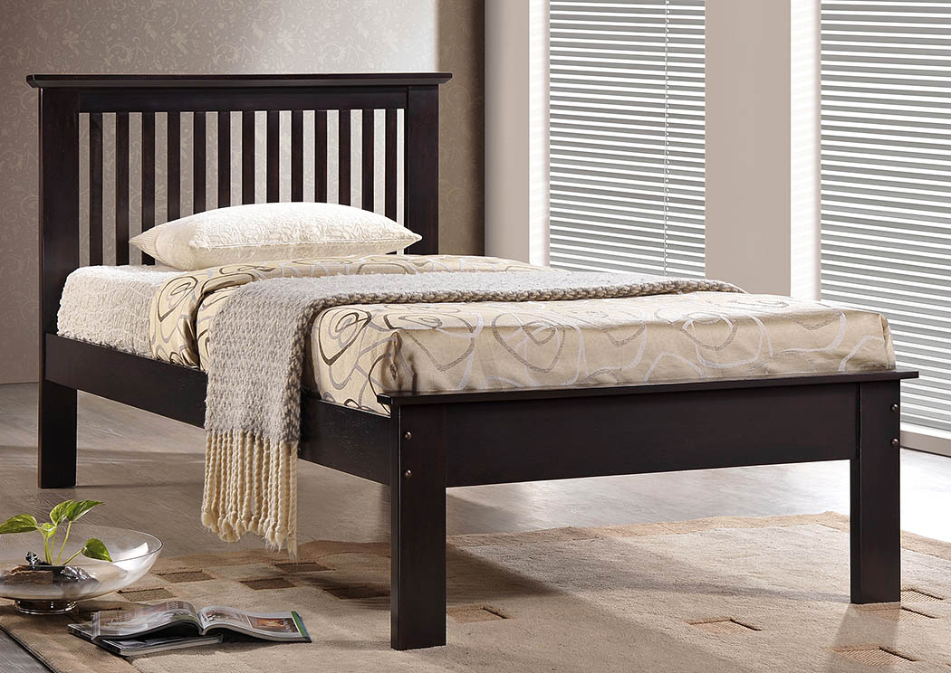 Houston Chocolate Twin Mission Bed,Donco Kids