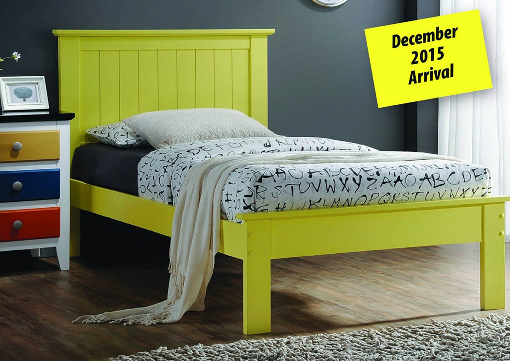 Joshua ll Yellow Twin Platform Bed,Donco Kids