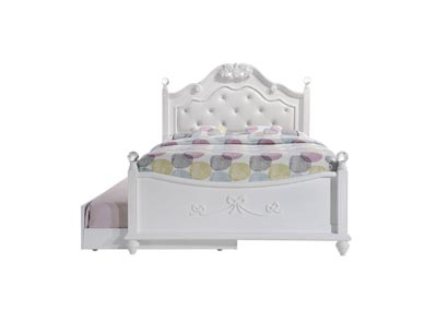 Image for White Alana Full Platform Bed w/ Storage Trundle