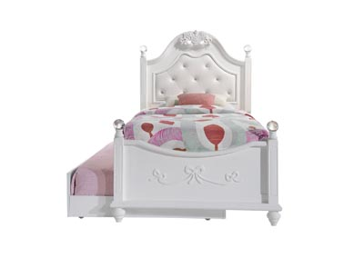 Image for White Alana Twin Platform Bed w/ Storage Trundle