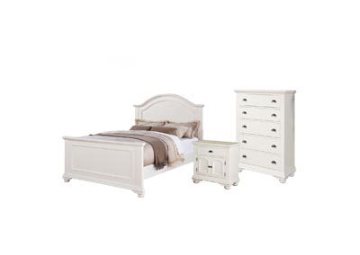 Image for Brook White Queen Bed  w/ Dresser & Mirror