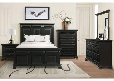 Image for Calloway Antique Black King Headborder / Footboard