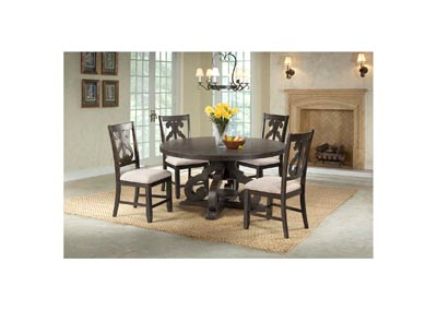 Image for Stone   Smokey Walnut Dining Table w/4Chair