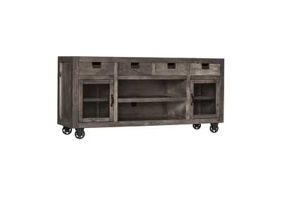 Image for Industrial Grey Rectangular Storage Media Console