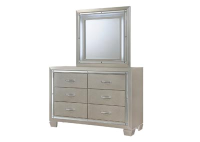 Image for Platinum Youth Yellow Dresser w/Mirror