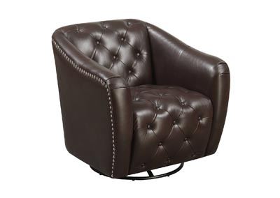 Image for Larkin  Chocolate Swivel Chair