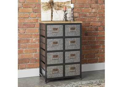 Image for Grant Aged Metal 9-Drawer Accent Cabinet