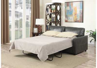 Image for Slumber Charcoal Gray Full Sleeper Sofa