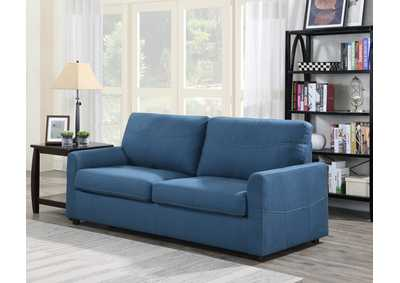 Image for Slumber Blue Queen Sleeper Sofa