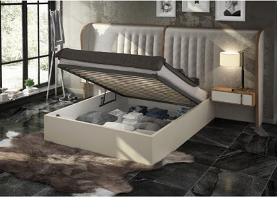 Image for Cadiz Beige Queen Bed with Storage