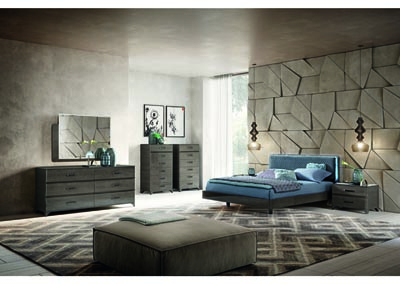 Image for Maia Beige, Blue & Brown Queen Bed W/ Dresser & Mirror