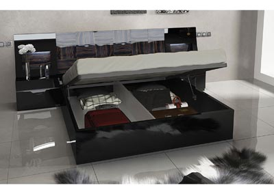 Image for Marbella Black Storage King Bed W/ Dresser & Mirror