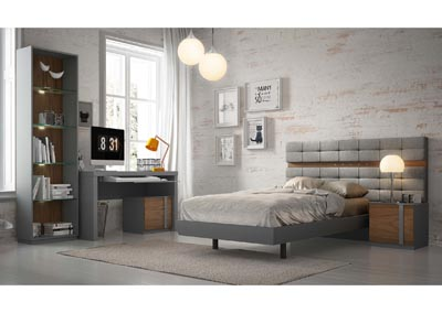 Image for Palma Grey & Walnut Panel Twin Bed