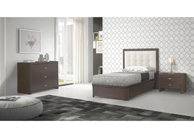 Image for Regina Wenge & White Twin Bed