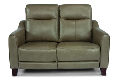 Image for Forte Mushroom Power Reclining Loveseat with Power Headrests