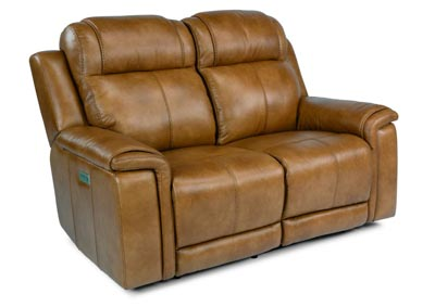 Image for Kingsley Medium Brown Power Reclining Loveseat with Power Headrests