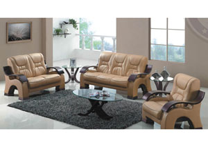 Image for Honey Bonded Leather Sofa