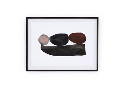 Image for Acrylic Shadow Box + Black Washed Maple + Photo Paper Art Studio Shaman Ii By Jess Engle Framed Paper