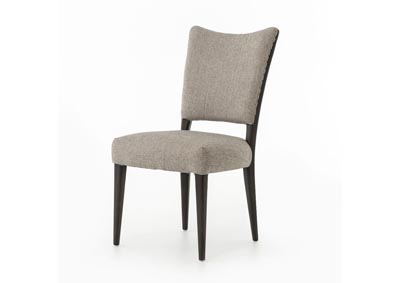 Image for Ives White Grey + Charcoal Brown + Kensey Stripe Abbott Lennox Dining Chair