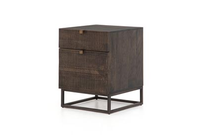 Image for Gunmetal + Carved Vintage Brown + Vintage Brown Fallon Kelby Filing Cabinet