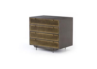 Image for Perforated Brass Patina + Gunmetal Rockwell Hendrick File Drawer