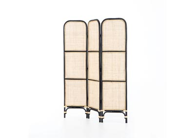 Image for Ebony Rattan + Warm Wheat Rattan Woodland Sundara Screen