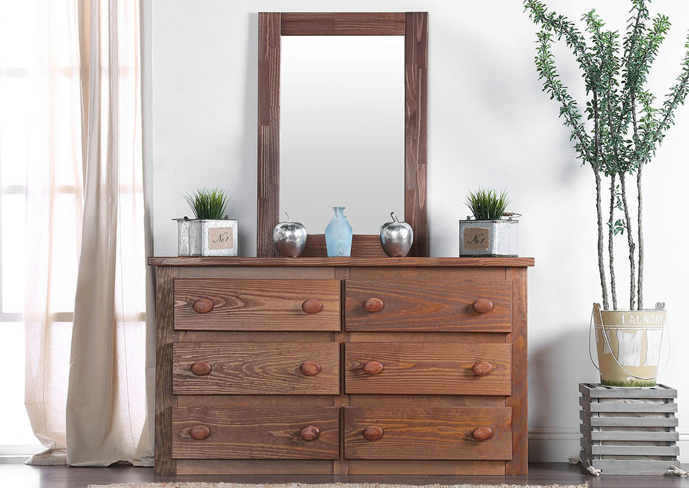 Lea Dresser and Mirror,Furniture of America