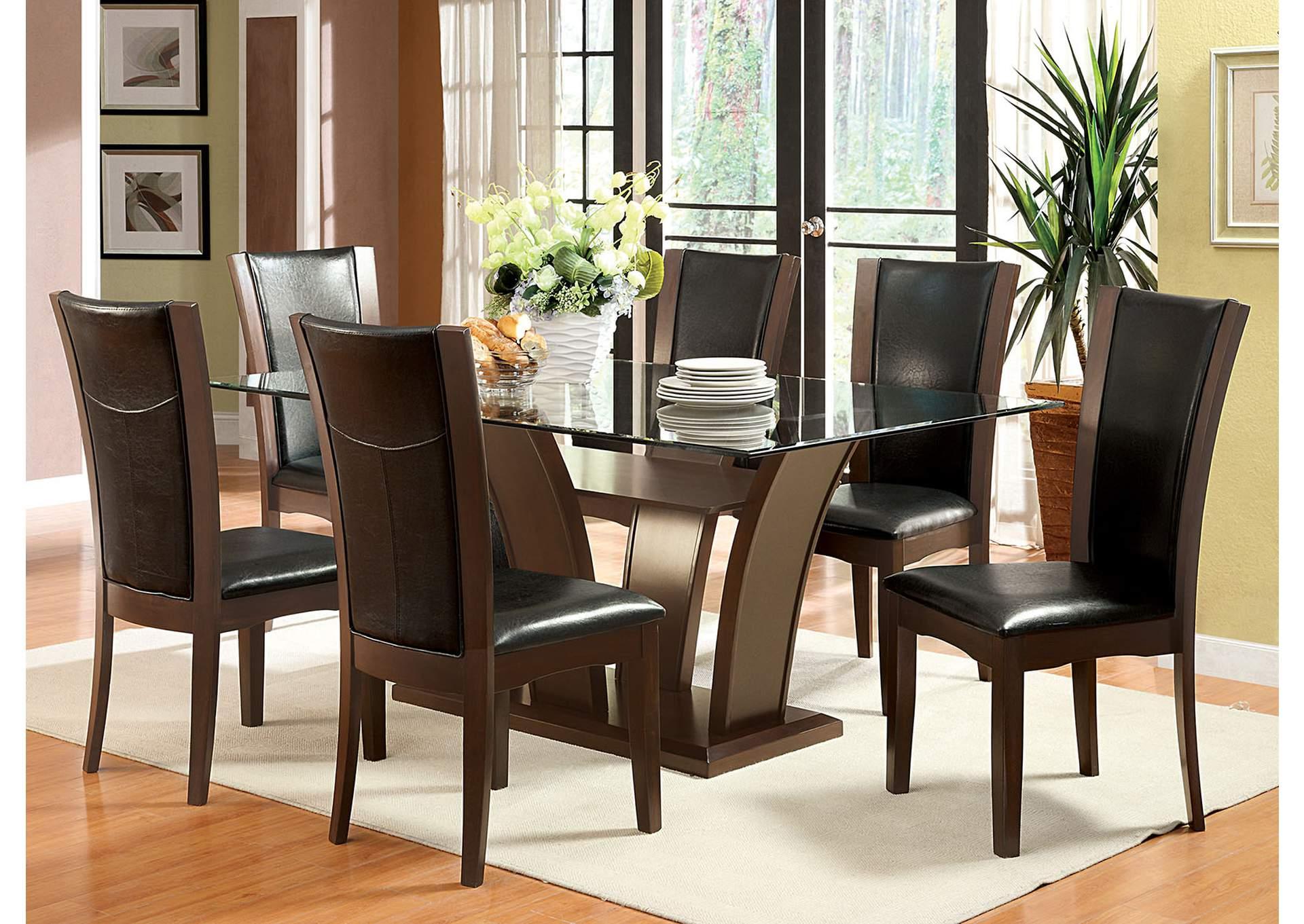 Manhattan L Dining Table W 6 Side Chair Mariem Furniture