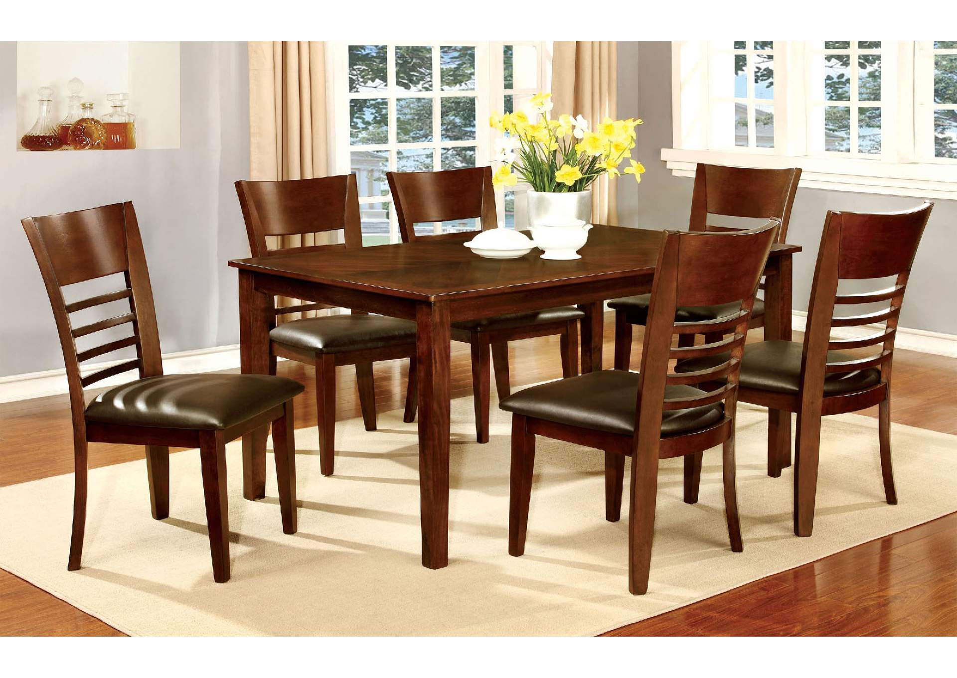 "Hillsview I Brown 60"" Dining Table w/4 Side Chair,Furniture of America"