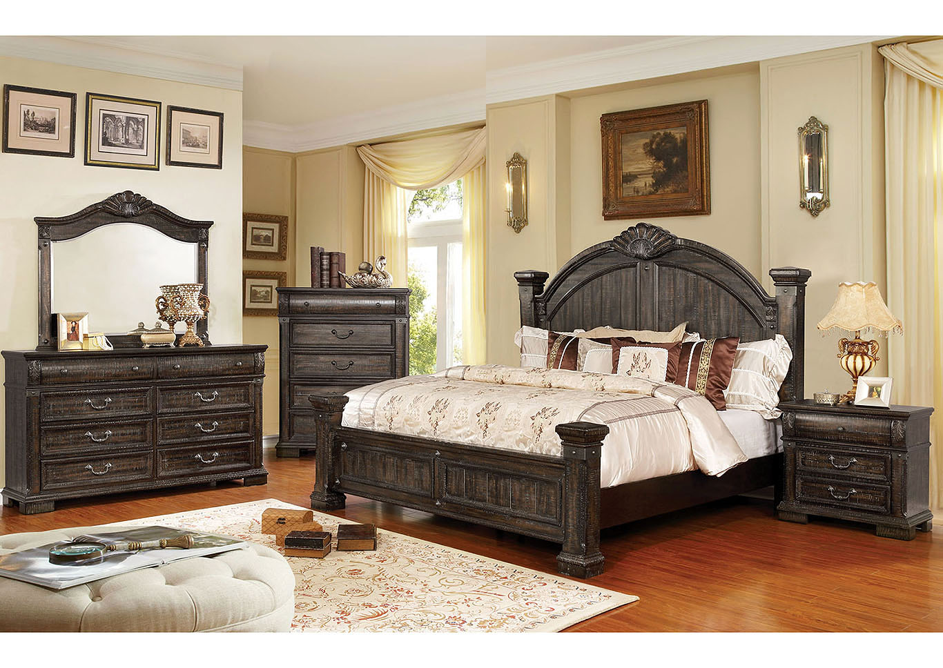 Genevieve Queen Bed,Furniture of America