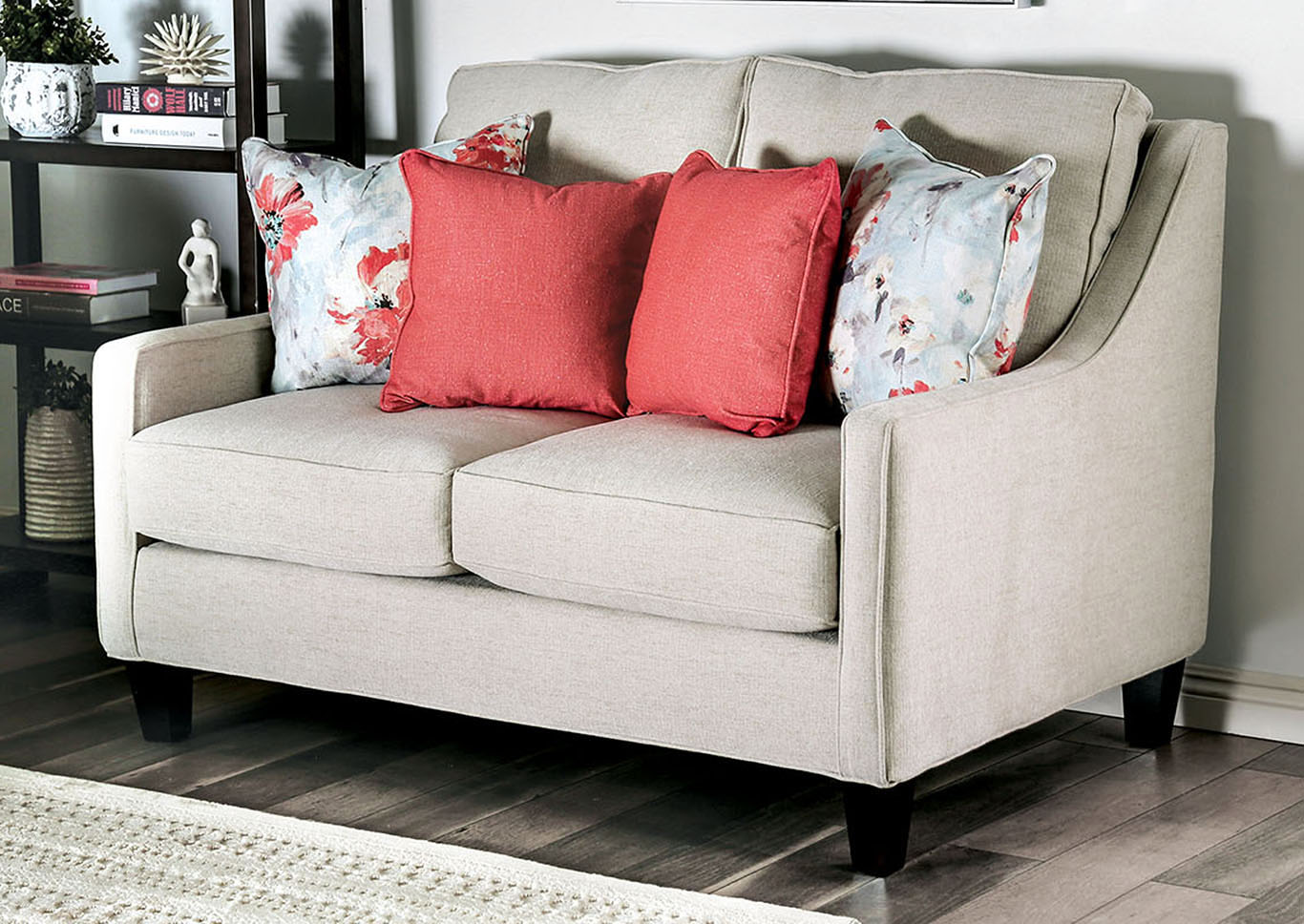 Nadene Beige Sofa and Loveseat,Furniture of America