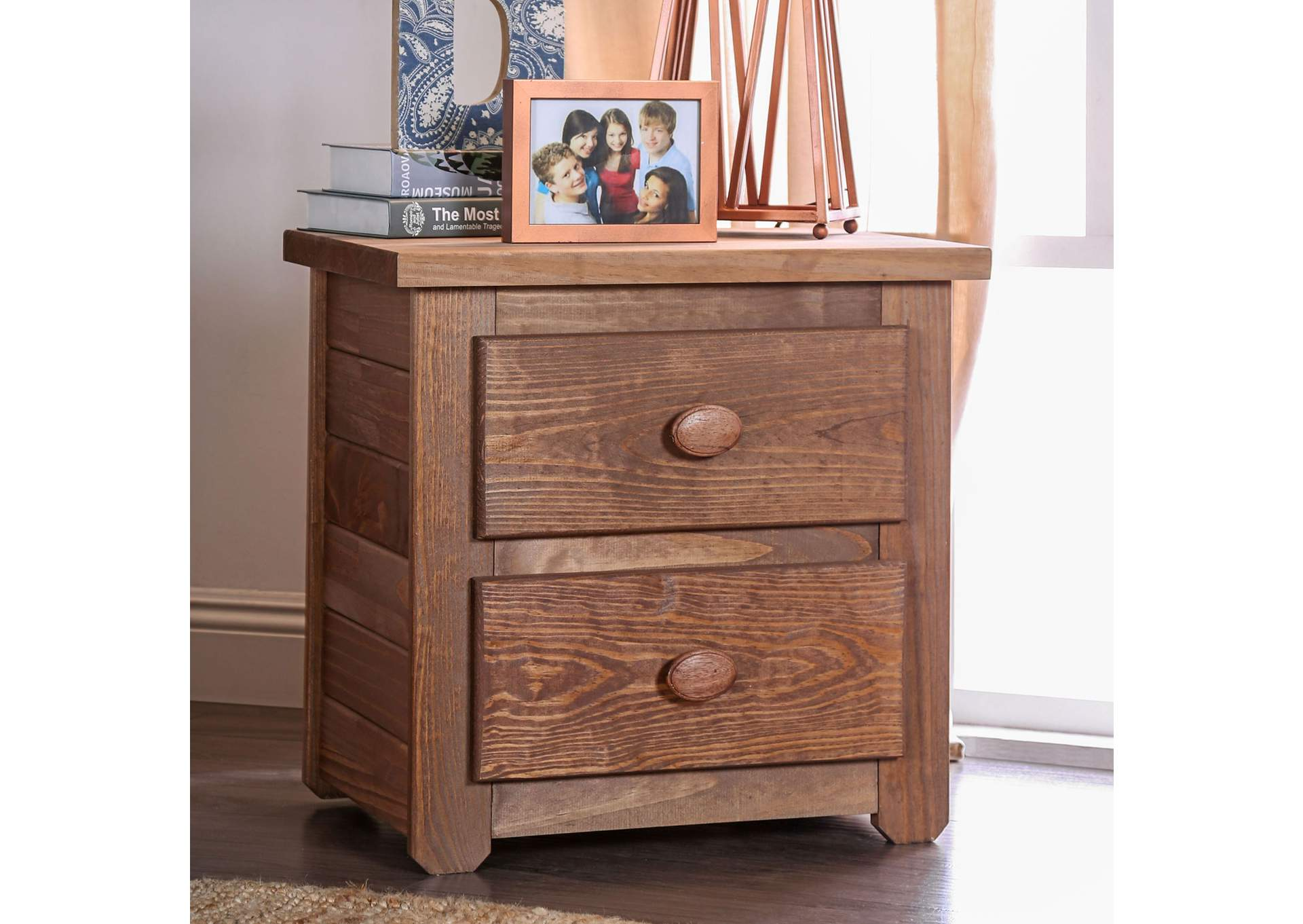 Lea Mahogany Night Stand,Furniture of America
