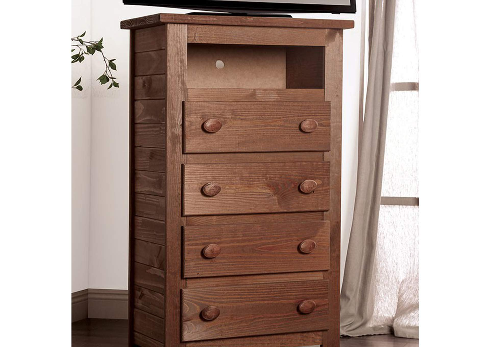 Lea Mahogany Media Chest,Furniture of America