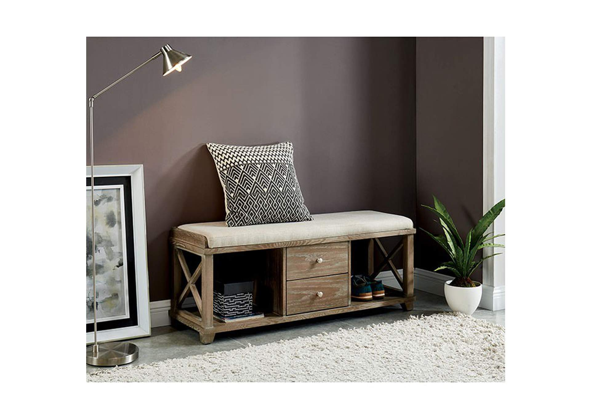 Gracelyn Shoe Bench,Furniture of America