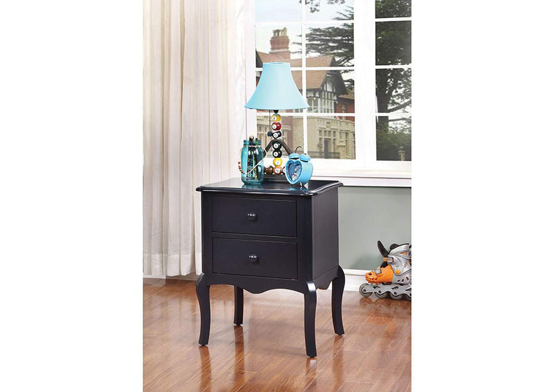Lexie Blue 2 Drawer Nightstand,Furniture of America