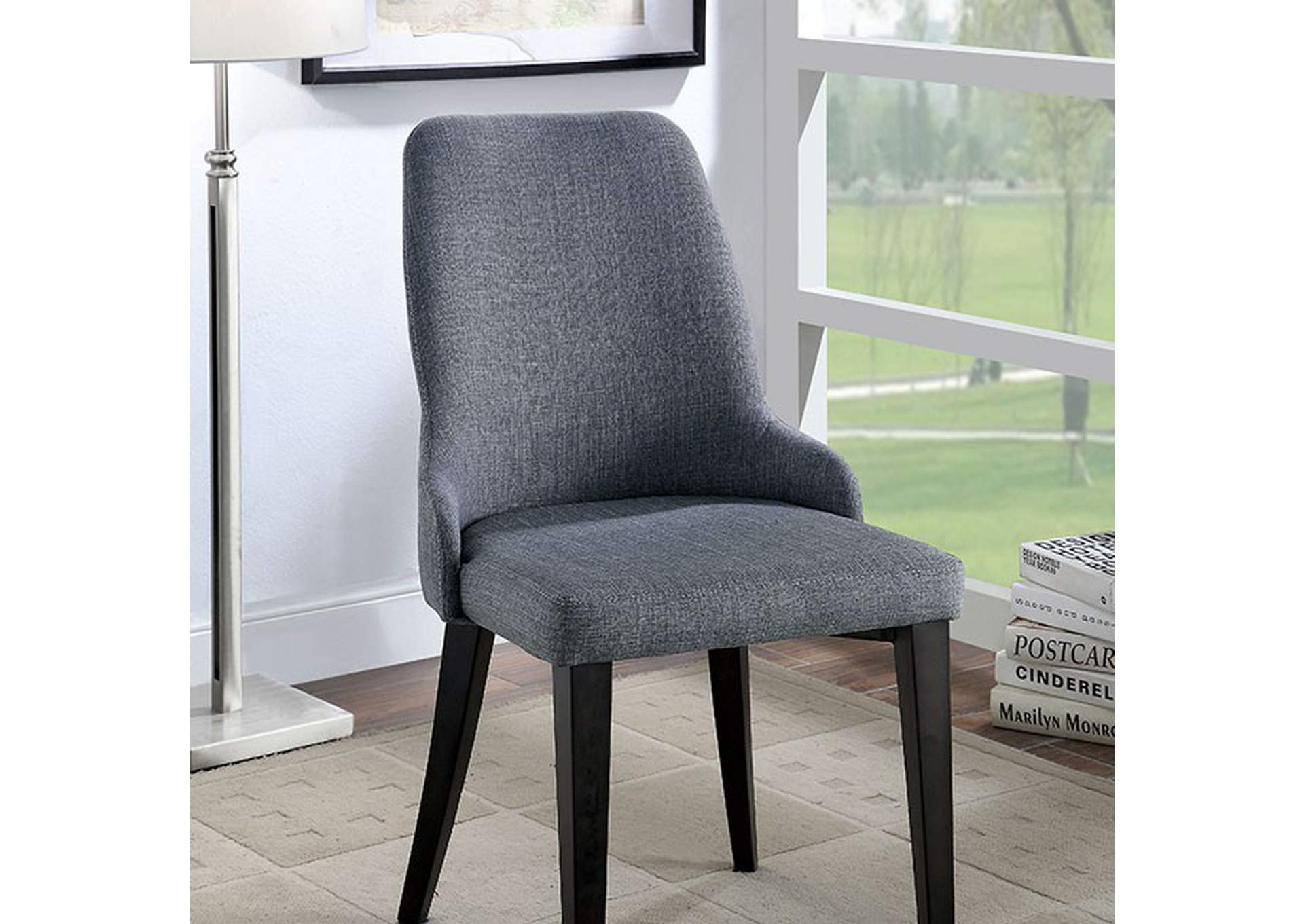 Marge Gray Chair [Set of 2],Furniture of America