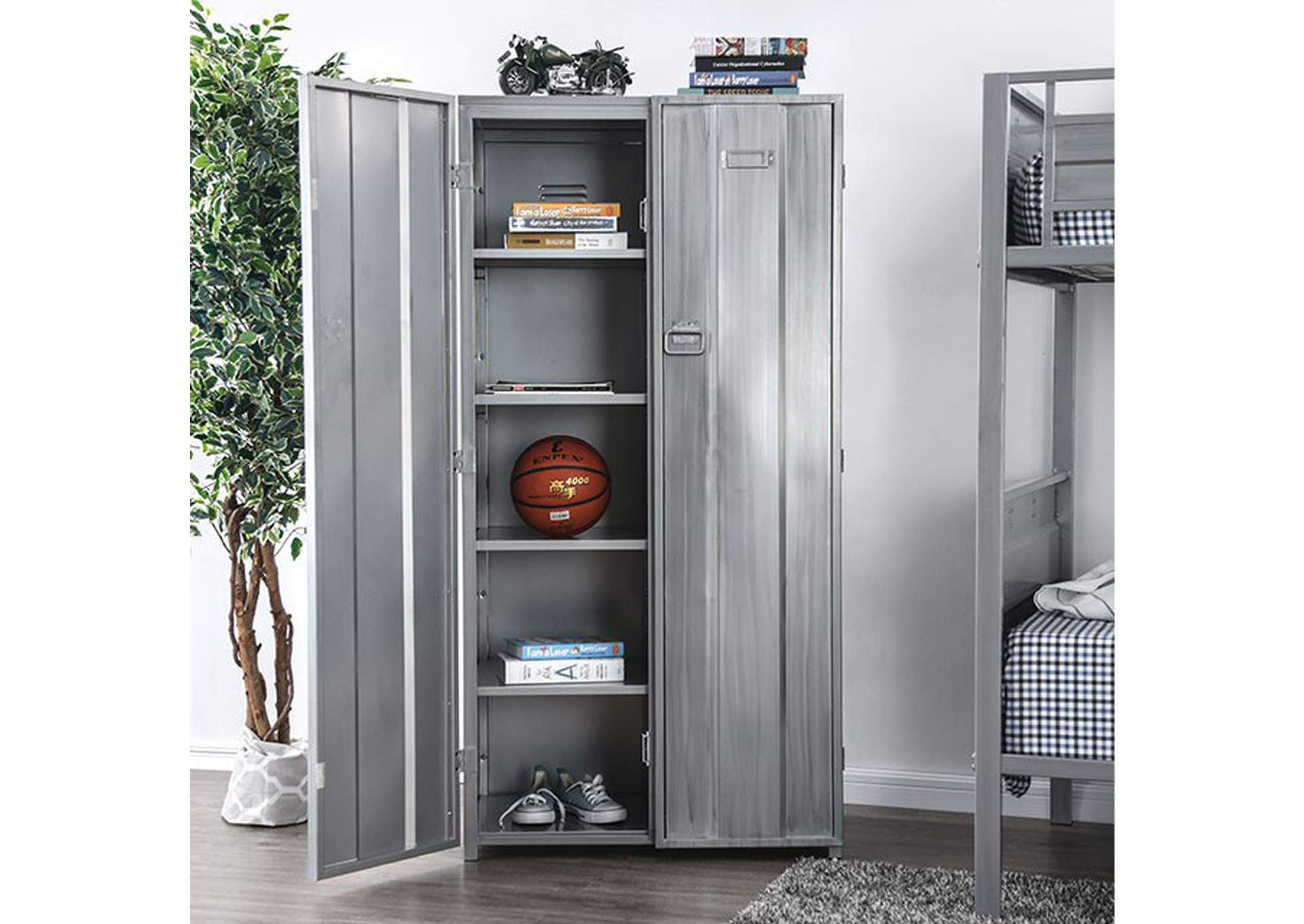 Zaheera Silver Locker,Furniture of America