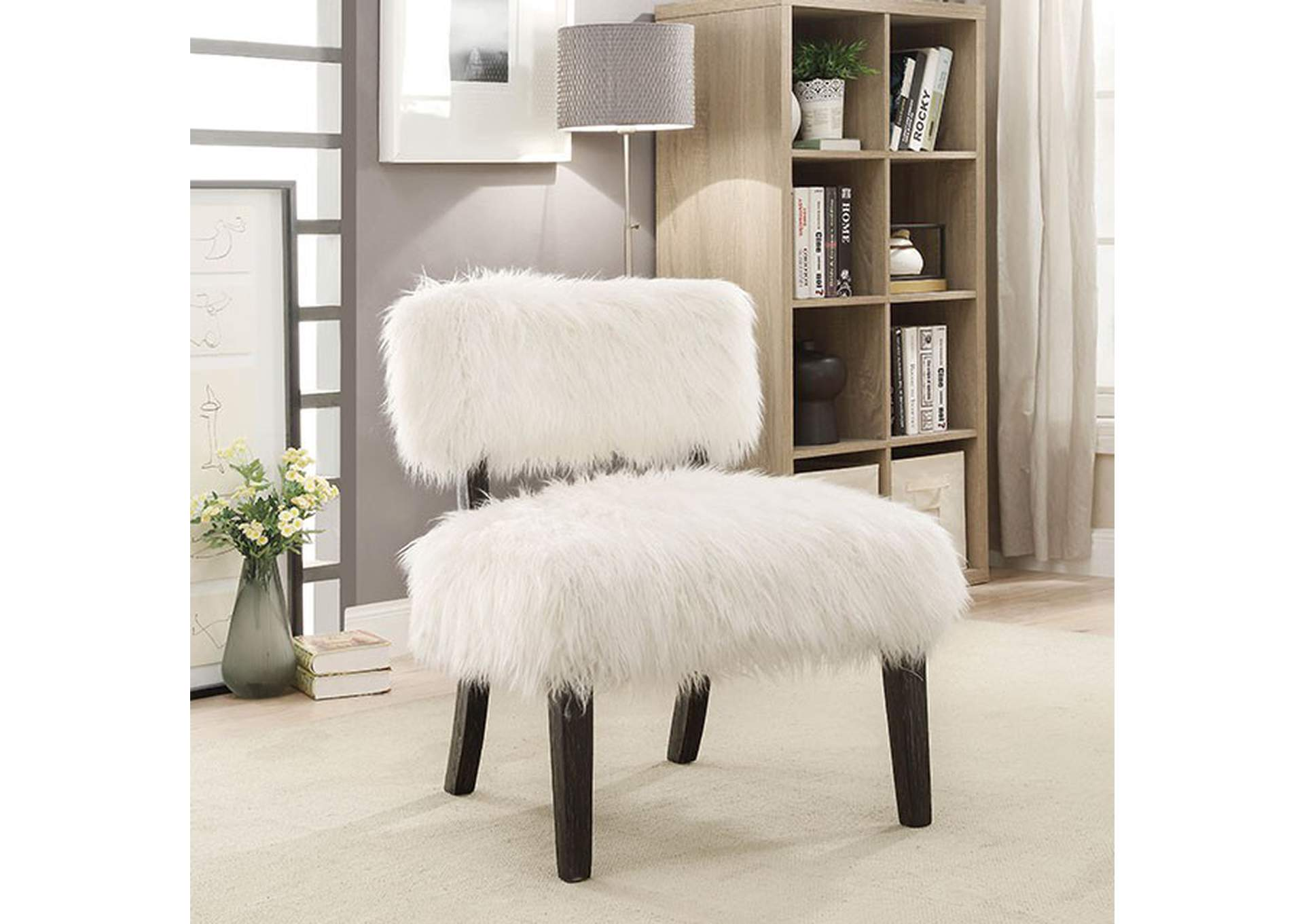 Mystic Sovereign White Accent Chair,Furniture of America