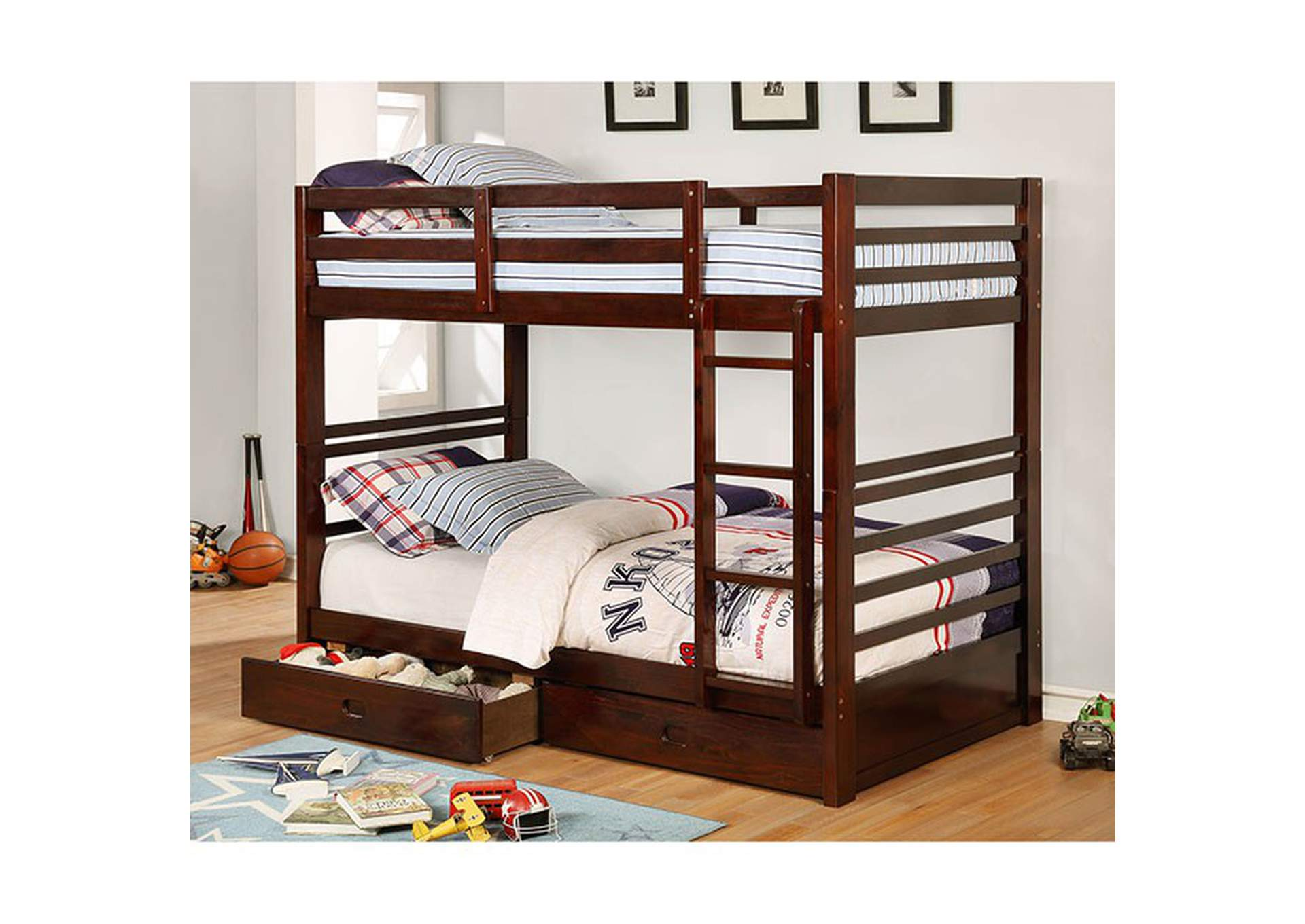 California IV Espresso Twin/Twin Bunk Bed,Furniture of America