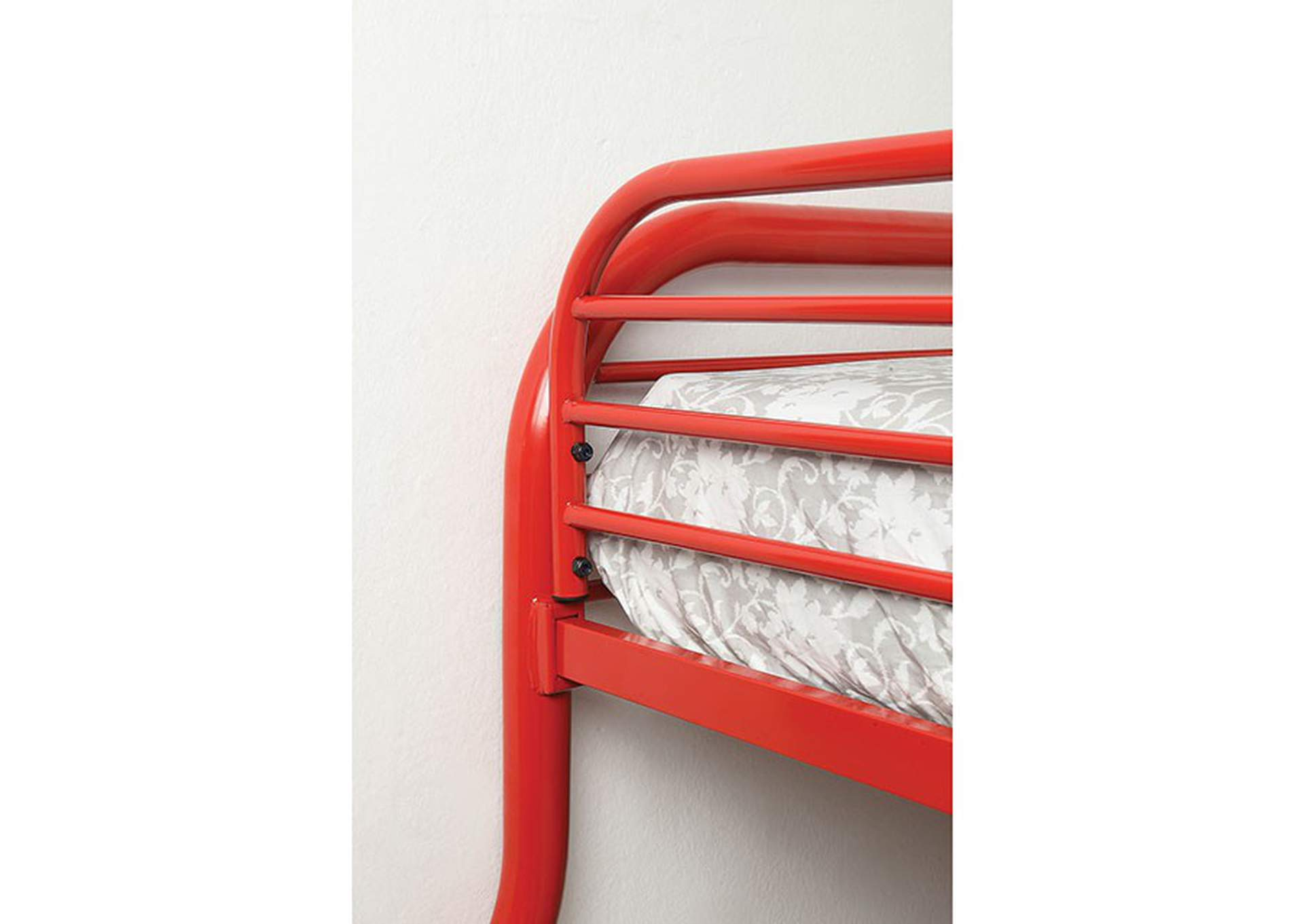 Opal Red Twin/Full Bunk Bed,Furniture of America