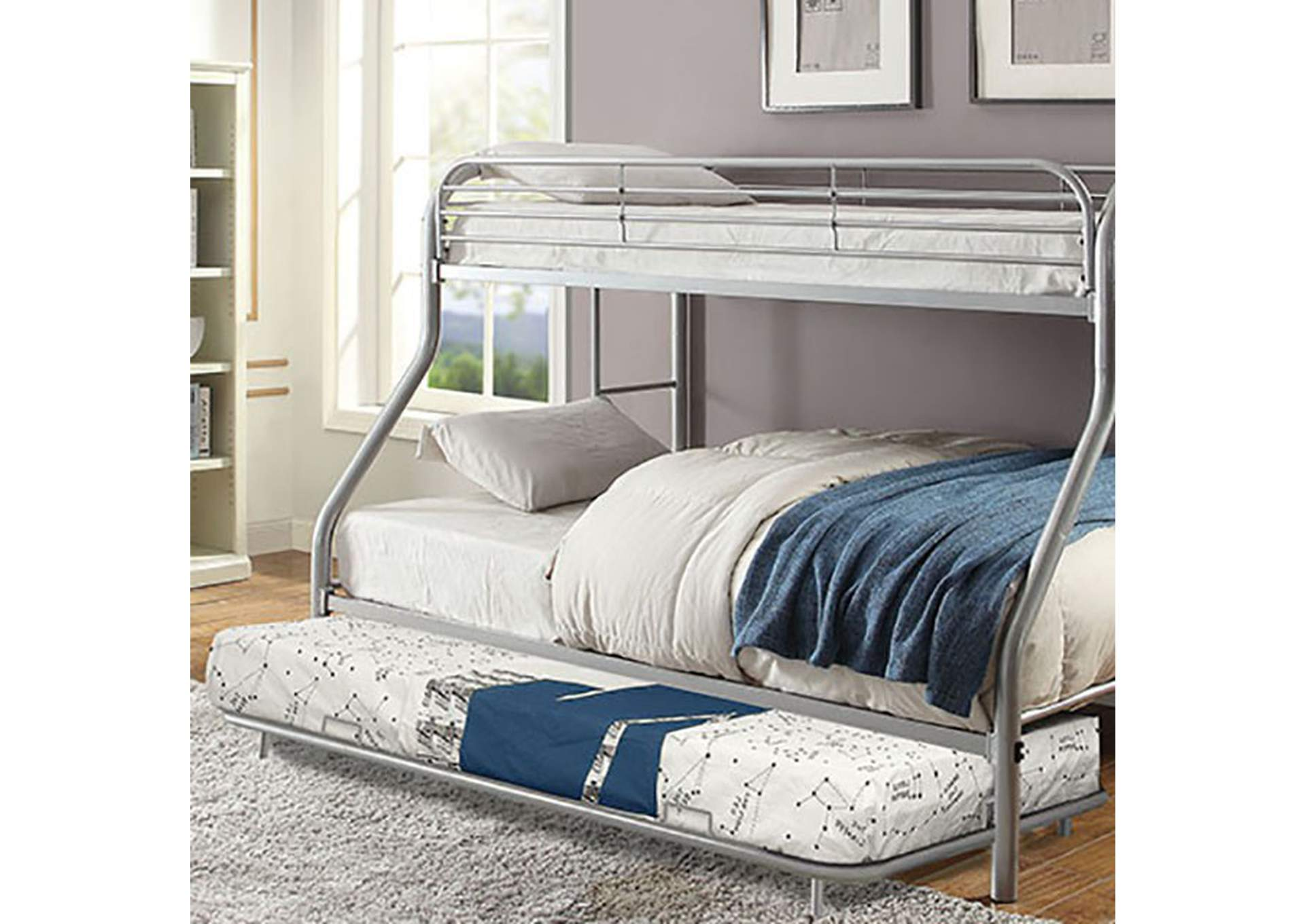 Opal Silver Metal Trundle,Furniture of America