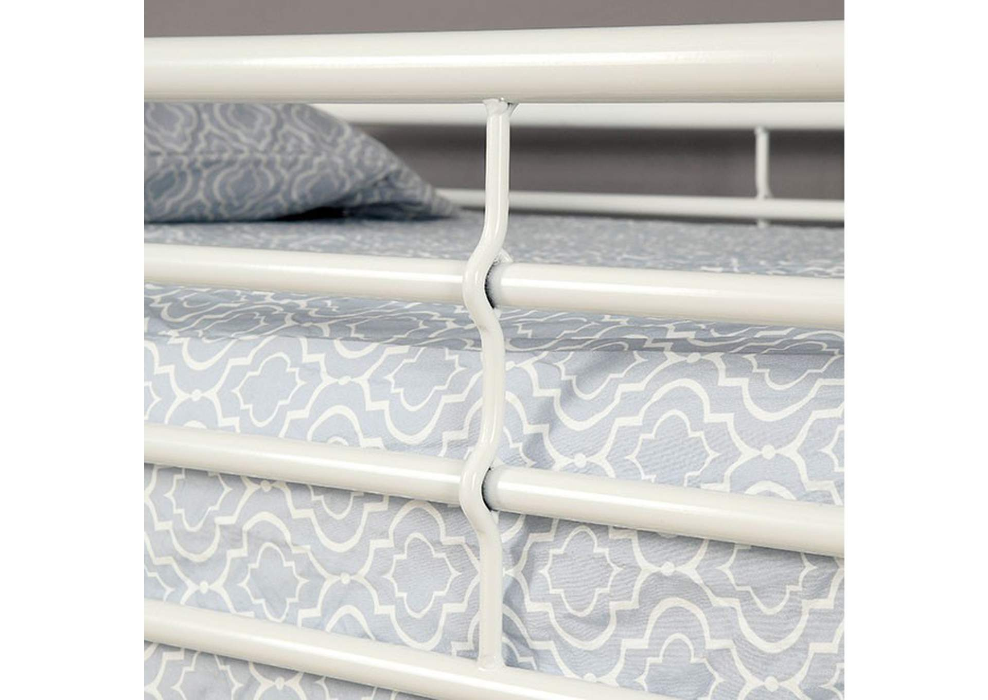 Opal White Twin/Twin Bunk Bed,Furniture of America