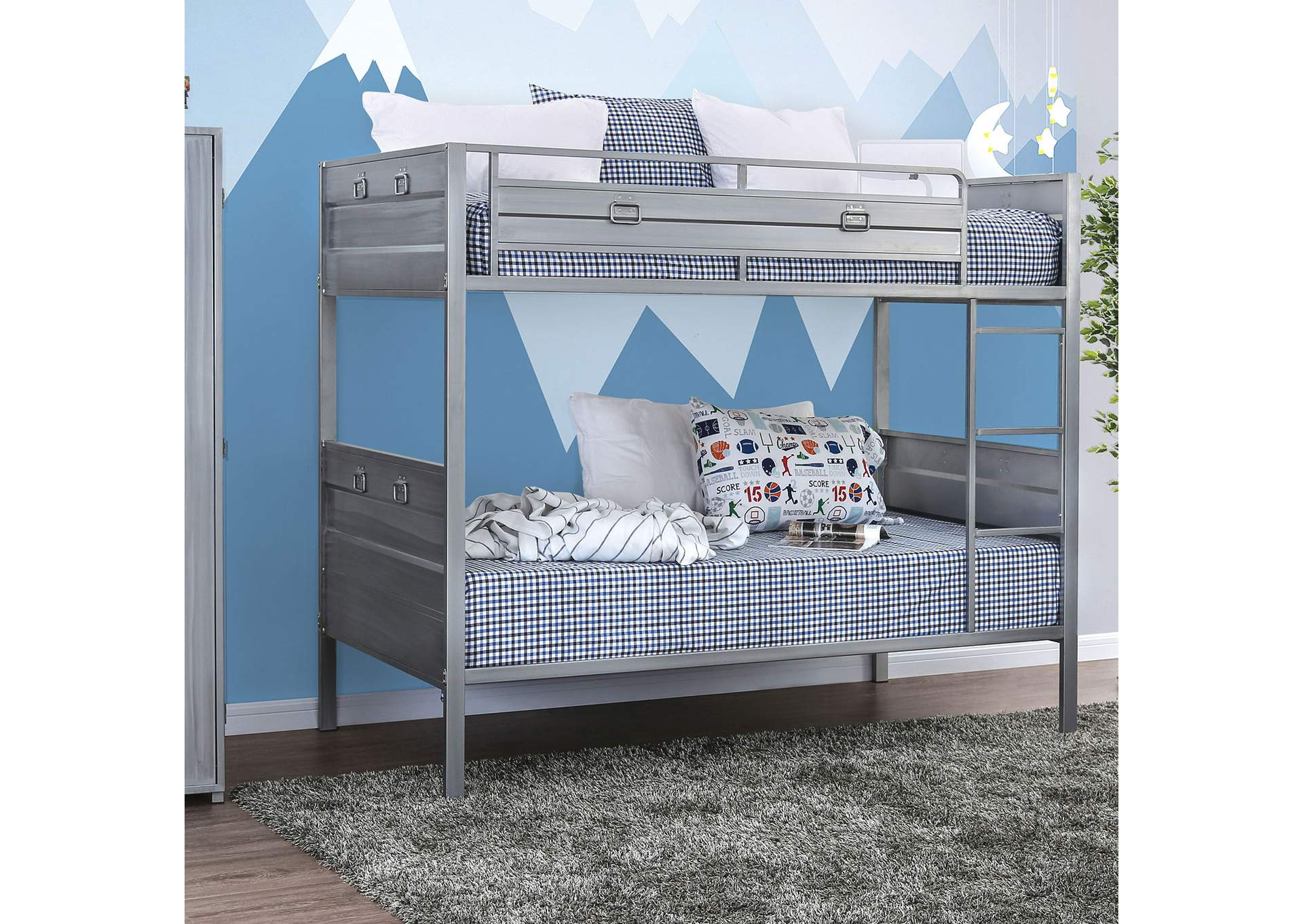 Mccredmond Silver Twin/Twin Bunk Bed,Furniture of America