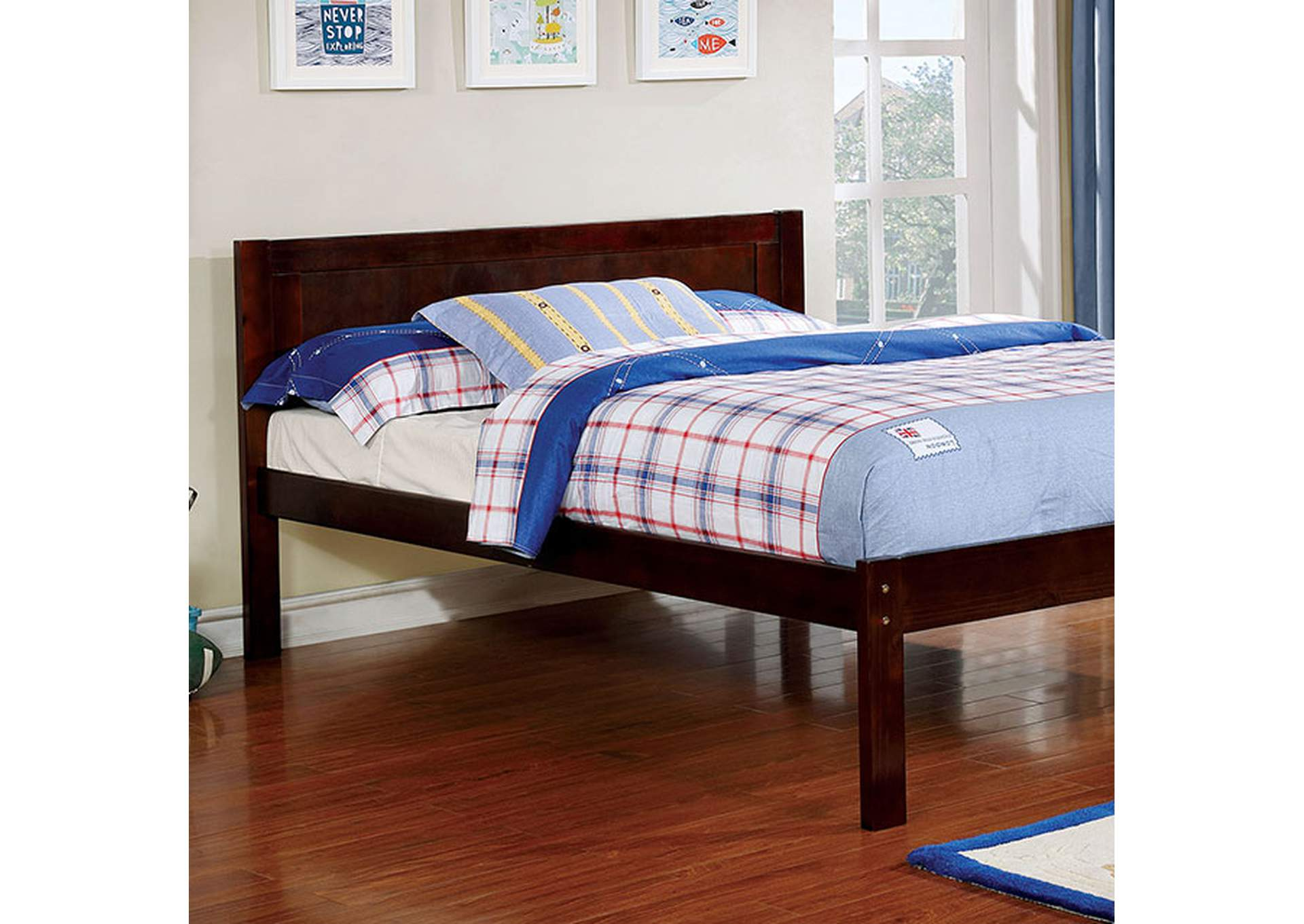 Annemarie Espresso Full Platform Bed,Furniture of America