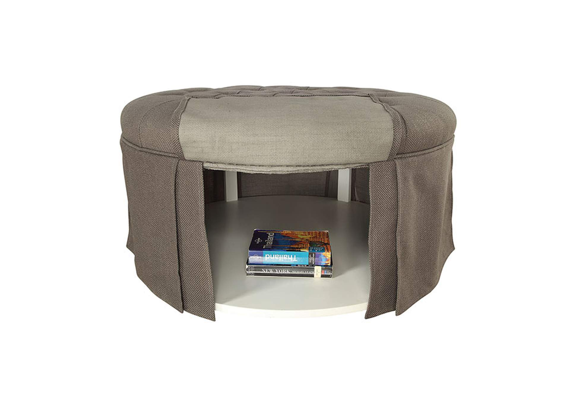 Claes Round Ottoman,Furniture of America